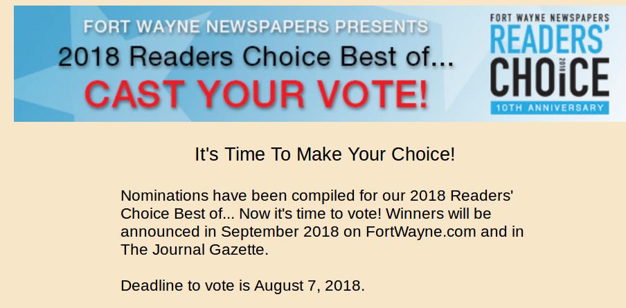 Fort Wayne Newspapers Readers' Choice Awards. Fort Wayne Computer Repair