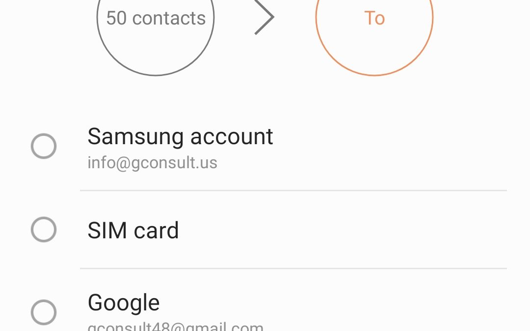 My smartphone contacts aren't always showing up in my Google contacts