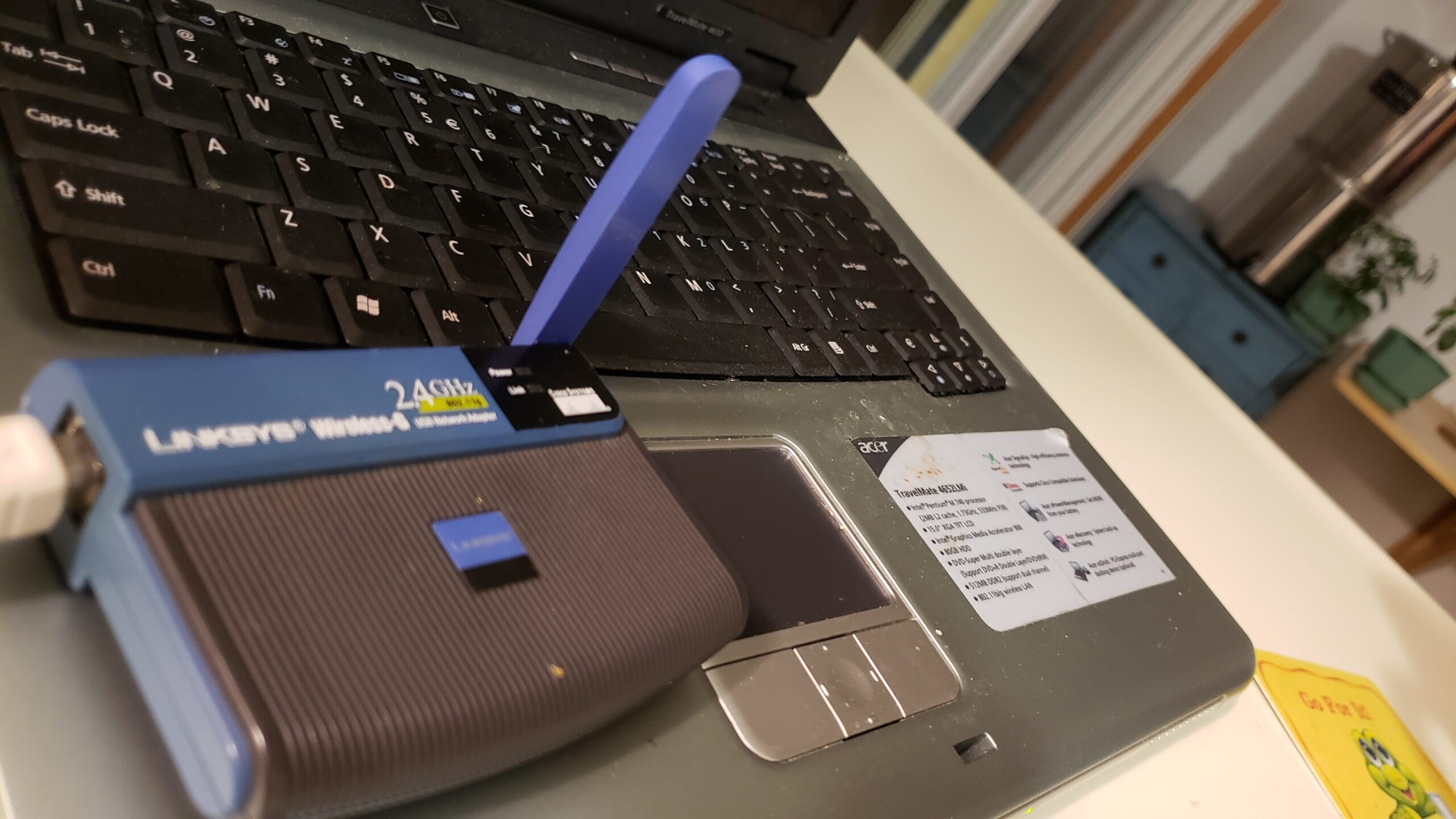 My Kitchen laptop's built-in wireless started working again!