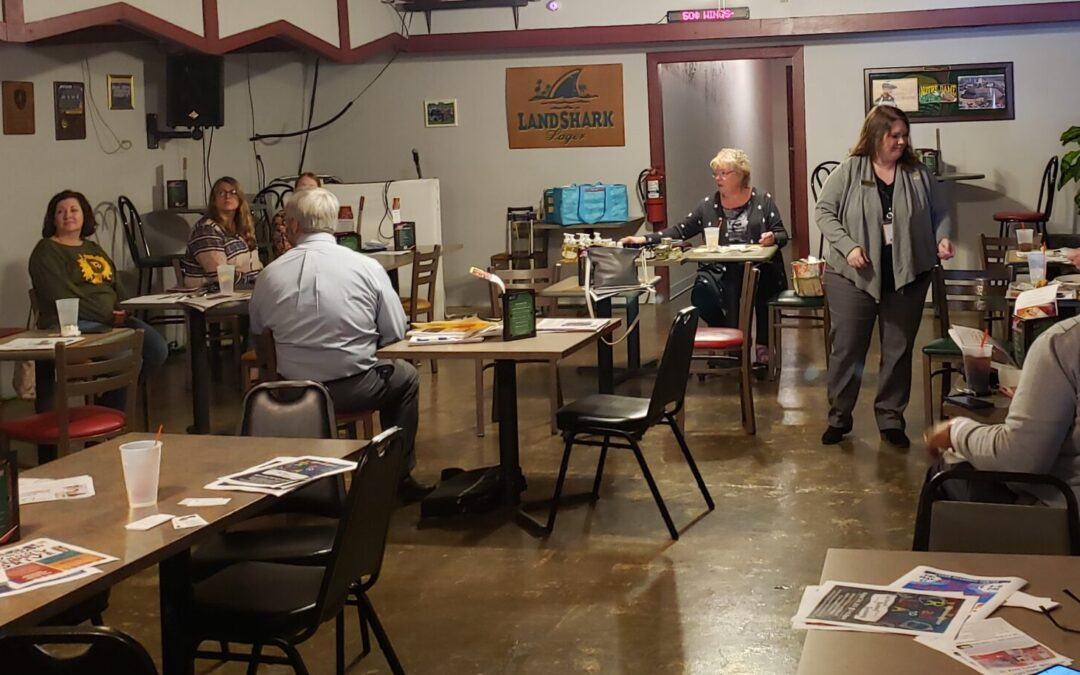 Tuesdays are for open business networking. New Haven (IN) Chamber networking group